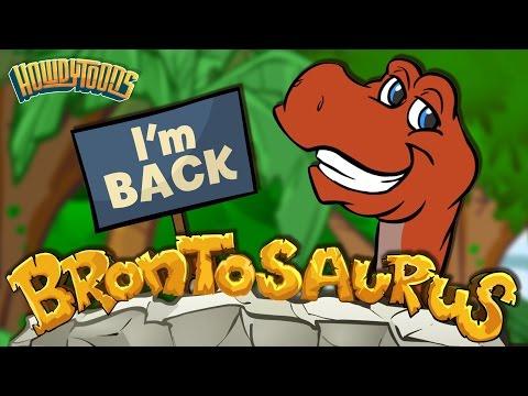 Brontosaurus is Back! | Dinosaur Songs from Dinostory | Dinosaur Videos by Howdytoons