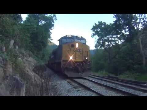 CSX Freight Train In West Virginia Nice Horns