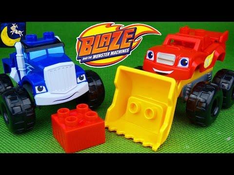 Blaze and the Monster Machines Toys Mega Bloks Blaze Crusher Mix & Match Monster Trucks Mashup Toys