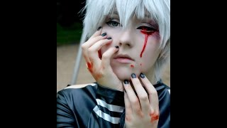 Tokyo Ghoul Kaneki Ken Cosplay Makeup Tutorial (YES I know that the Ghoul eye is on the wrong side )