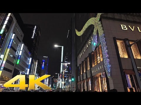 The Christmas lights in Ginza, Tokyo Part1 - Long Take【東京・銀座イルミネーション】 4K