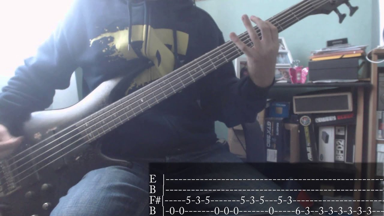 nu metal s week 07 slipknot duality bass cover tab youtube