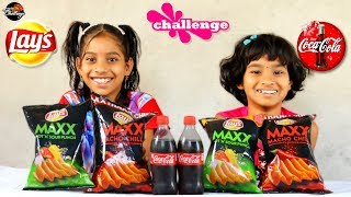 Lays Potato Chips Eating Challenge India  Food Challenge India by #foodiegirls#