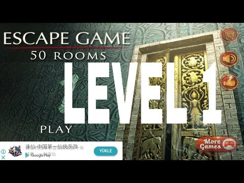 Escape Game 50 Rooms 1 Level 1 Walkthrough Youtube