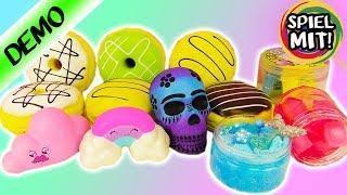 ULTIMATIVE SQUISHY + SCHLEIM Toys Deutsch - Mermaid Slime, Regenbogen Squishy, Donuts! Kaans Traum