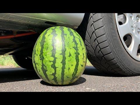 Crushing Crunchy & Soft Things by Car! - EXPERIMENT: WATERMELON VS CAR