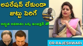 Tretment For Hair re Growth Without Suggary in Hyderabad-Dr.Rajeswari