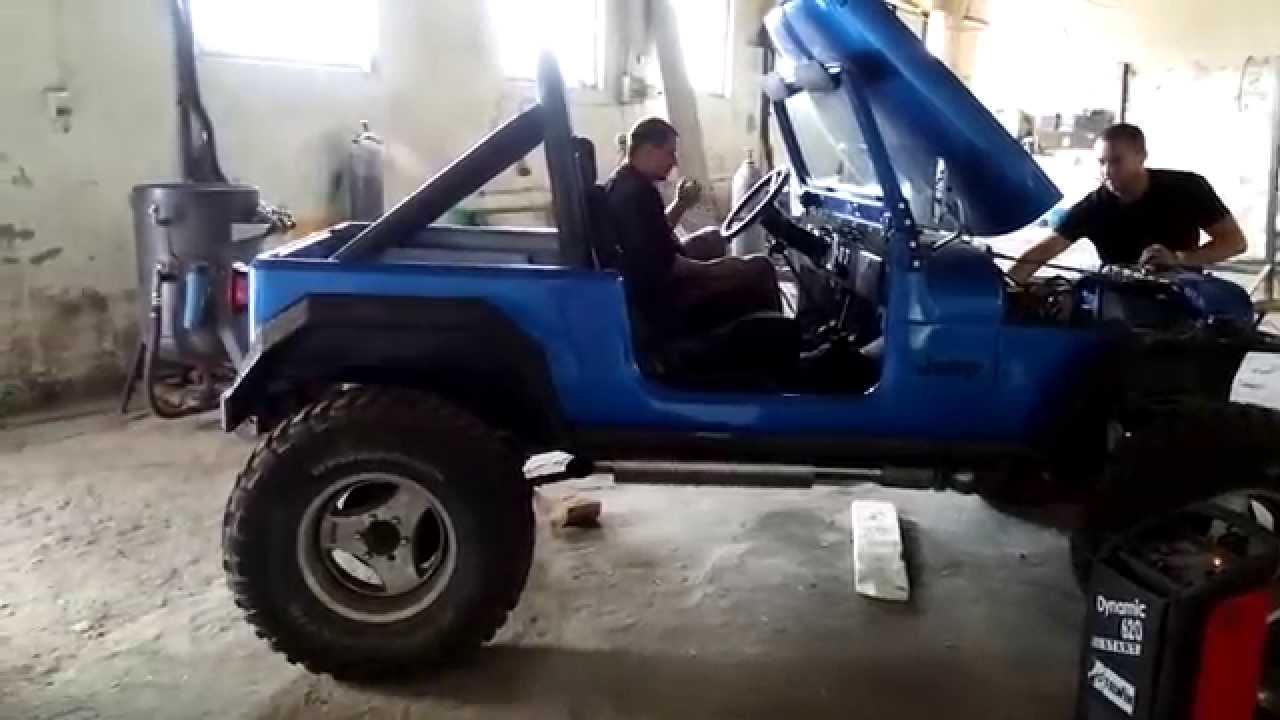 small resolution of jeep cj7 amc 304 v8 3 inch exhaust sound