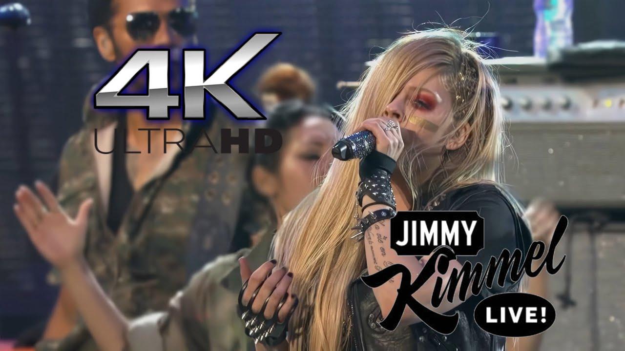 Download (Remastered 4K) Avril Lavigne - Rock N Roll (Live On Jimmy Kimmel Live! 2013)