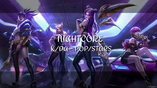 NIGHTCORE~ K/DA - POP/STARS (LYRICS) | LEAGUE OF LEGENDS