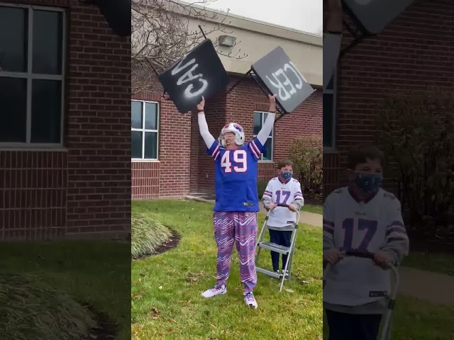 Buffalo Bills fan celebrates end of chemo!