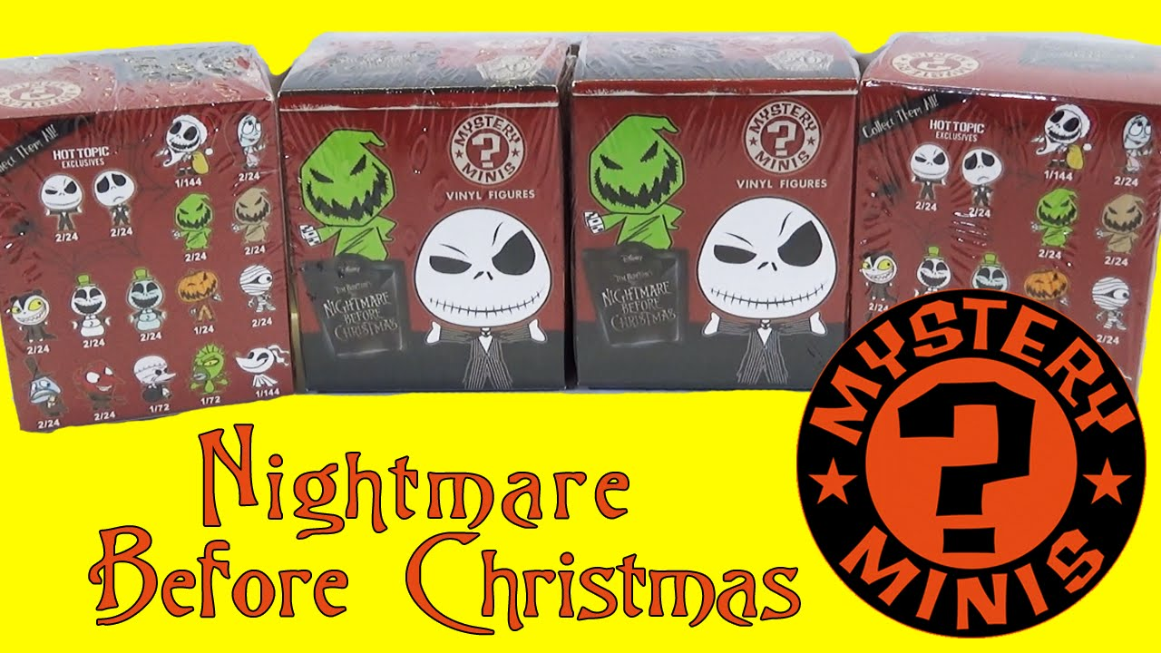 Nightmare Before Christmas Mystery Minis Blind Box Opening Funko ...