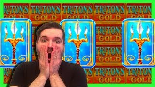 IT DIDN'T KNOW YOU COULD WIN THAT MUCH! 🌊 MASSIVE WIN on Triton's Gold Slot Machine W/ SDGuy1234