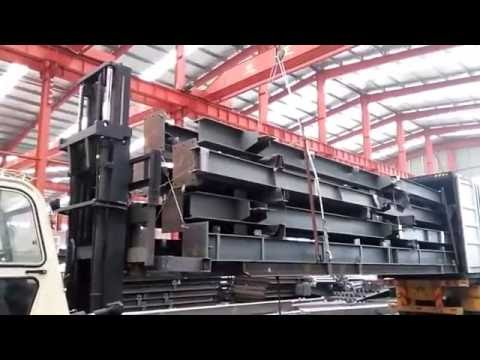 Container loading - steel pallet - easy to unload