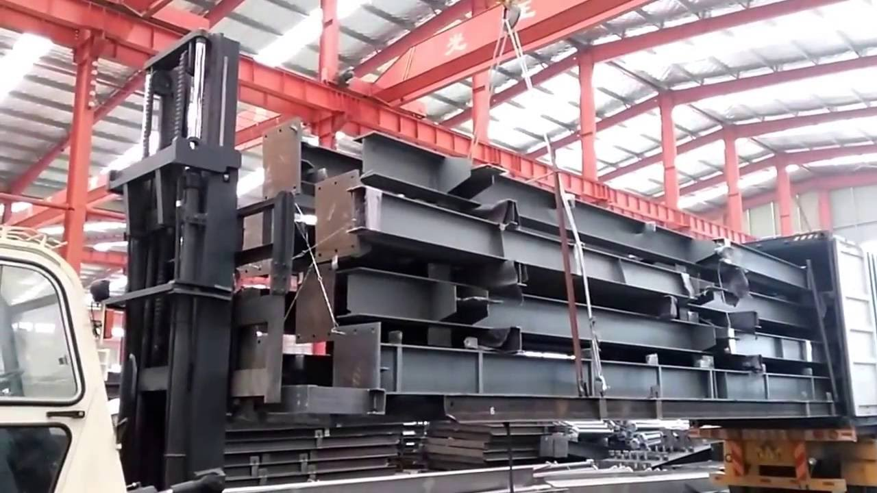 Container Loading Steel Pallet Easy To Unload Youtube