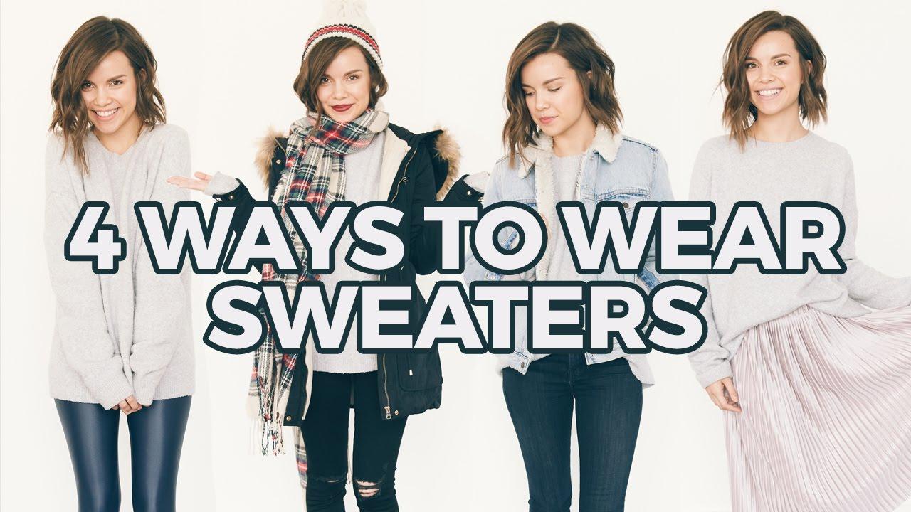 How I Style Oversized Sweaters Winter Fashion Ingrid Nilsen Youtube