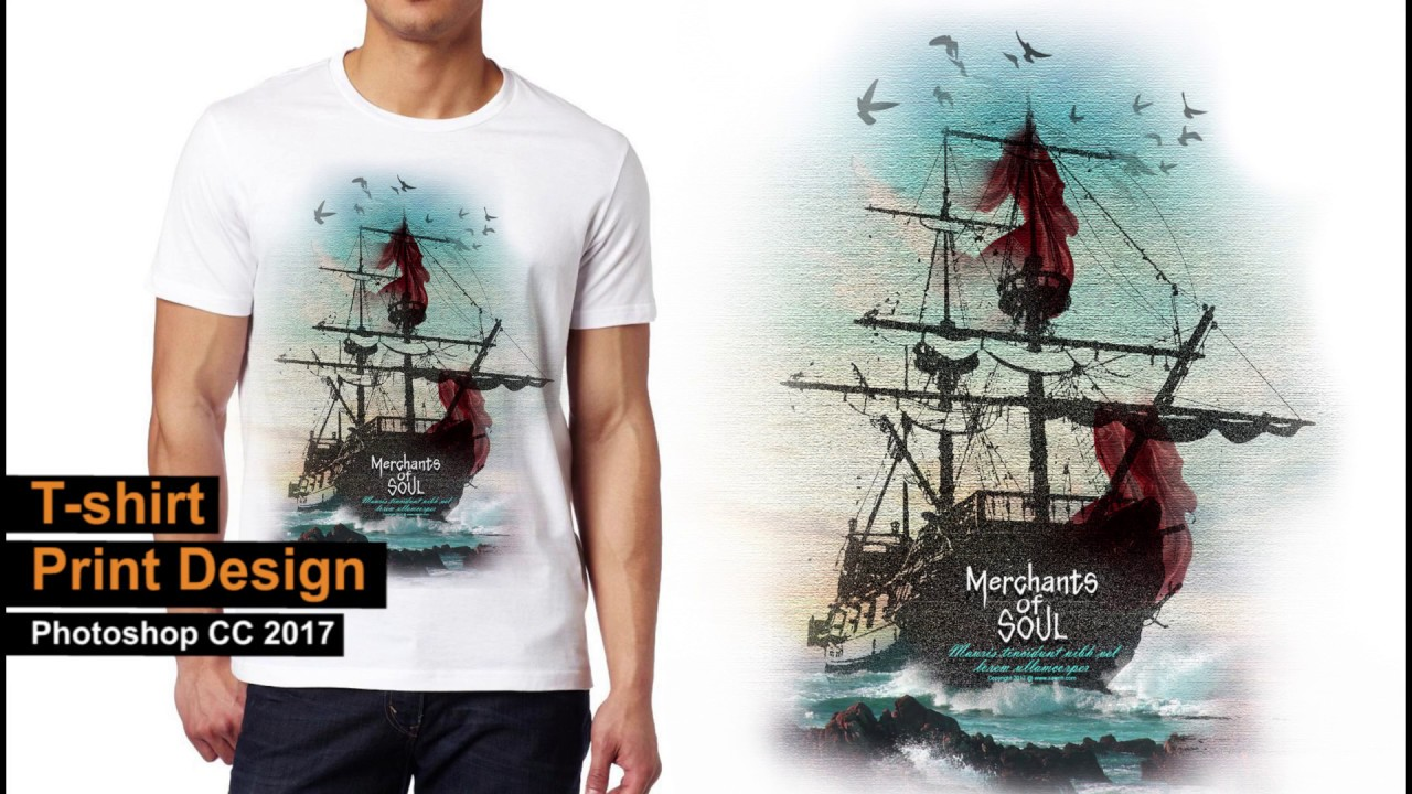 Design t shirt and print - T Shirt Chest Print Design In Photoshop Aavriti Merchants Of Soul