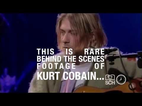 Kurt Cobain Nirvana behind the scenes of MTV Unplugged performance 1993 | SCH TimeMachine