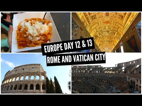 TRAVEL VLOG: Europe day 12 & 13 - Rome and Vatican City, Italy, Contiki Winter Wanderer
