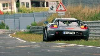 Porsche Carrera GT CRASH at the Nurburgring!