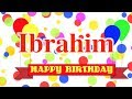 Happy Birthday Ibrahim Song