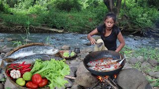 Yummy two sea fish spicy with tomato roasted on clay  Sea fish tasty recipe for lunch food ideas