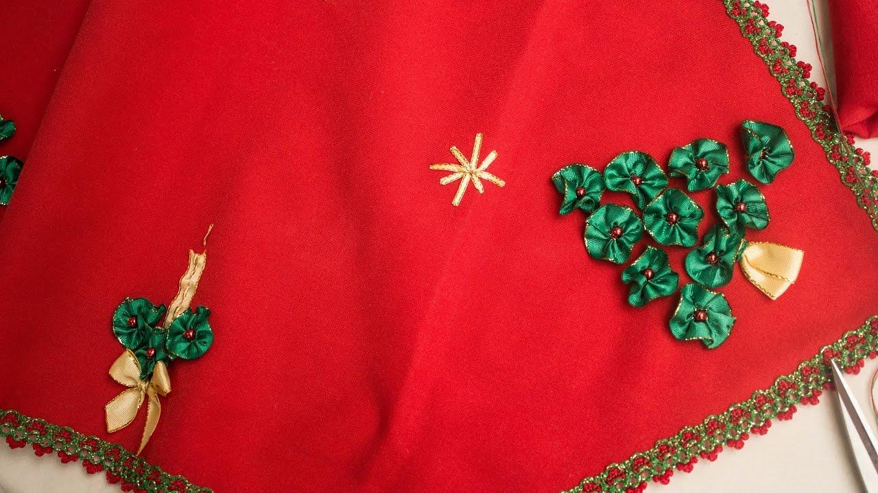 Camino de mesa navide o diy lindo y f cil de hacer chritsmas table tape especial navidad - Ideas para hacer manteles ...