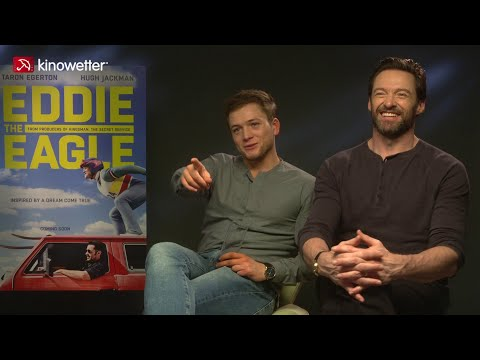 Taron Egerton & Hugh Jackman EDDIE THE EAGLE