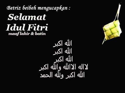 Gema Takbir Idul Fitri Youtube