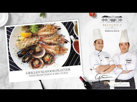 Grilled Seafood Platter - Brasserie 9