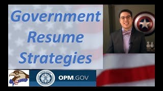 Government resume strategy - Use OPM's buzzwords
