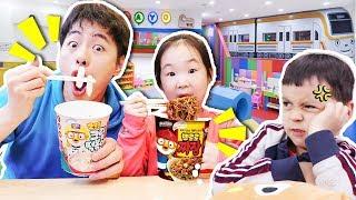 뽀로로 짜장면 인기모음 2탄!!Pororo Noodle pretend play with kids toys- 마슈토이 Mashu ToysReview