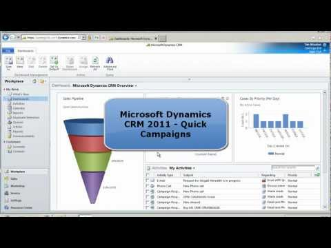 How to add Quick Marketing Campaigns in Microsoft CRM 2011