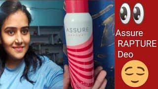 Assure Rapture Deo Honest Review AISHU 39 s CORNER