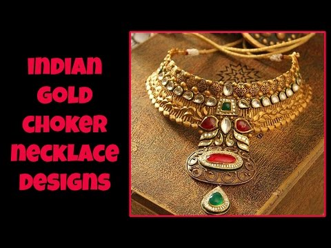 Indian Gold Choker Necklace Designs