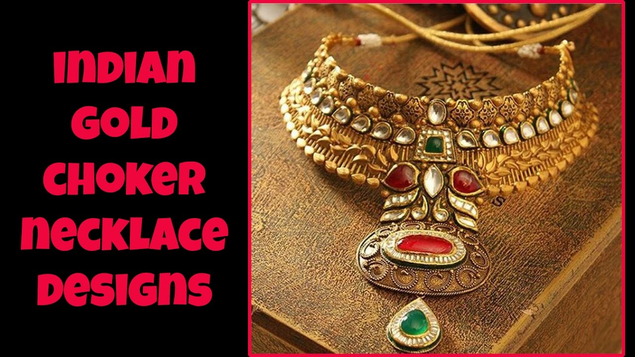 Indian Gold Choker Necklace Designs - YouTube