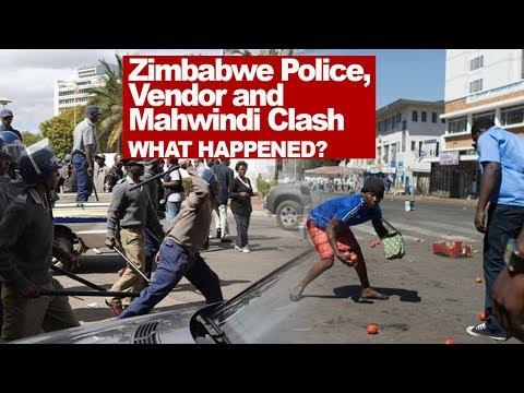 ZImbabwe Police, Vendors and Mahwindi Clash, What Happened? Reaction Video