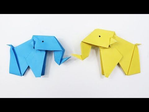 How to make an Easy Origami Elephant - DIY Paper Elephant instructions