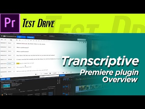 Transcriptive and PowerSearch Premiere Pro Plugins Overview