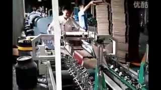 Shh 1400b2 Automatic Corrugated Folder Gluer Machine Making Smaller Corrugated Box  Gaotian Packing