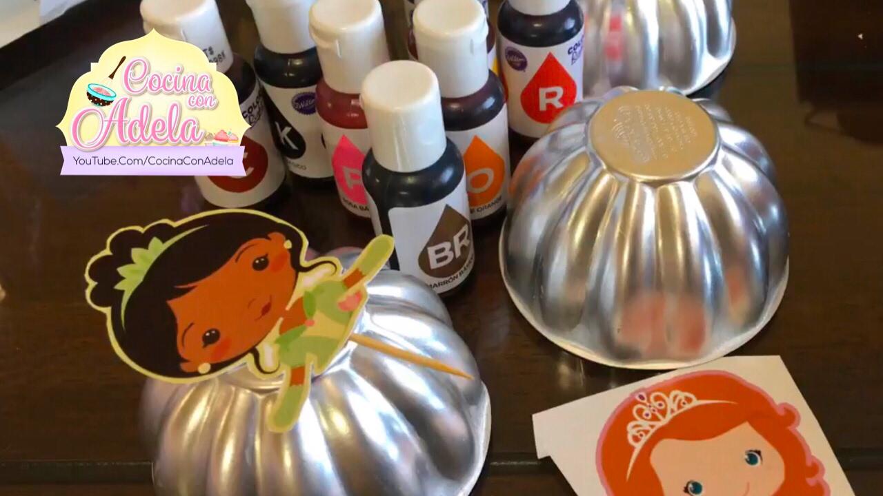 Mini moldes para gelatinas y recortes de princesas youtube for Donde venden vinilos para pared