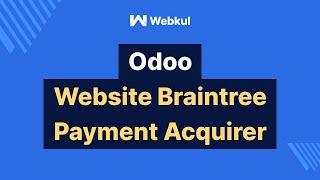 Odoo Website Braintree Payment Acquirer