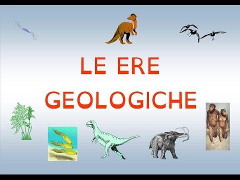 LE ERE GEOLOGICHE: ARCAICA, PALEOZOICA, MESOZOICA, CENOZOICA, NEOZOICA