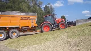 koszenie kukurydzy 2018 - wożenie na pryzmę - Dezeure kontra inne przyczepy objętościowe - ADROL