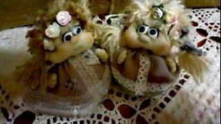 Подробный мастер класс. Стильная интерьерная куколка! Куклы для Счастья!