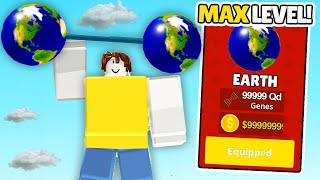 GETTING MAX LEVEL WEIGHTS in Fitness Simulator roblox