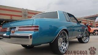 "Teal Regal on 24"" Forgiatos and Pearl Yellow 73 Impala Donk on 26"" Lexani @ Stuntfest 2k14"