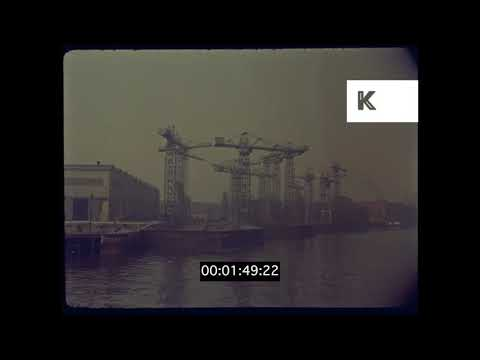 1960s Glasgow, Clyde Boats And Shipyards From 35mm