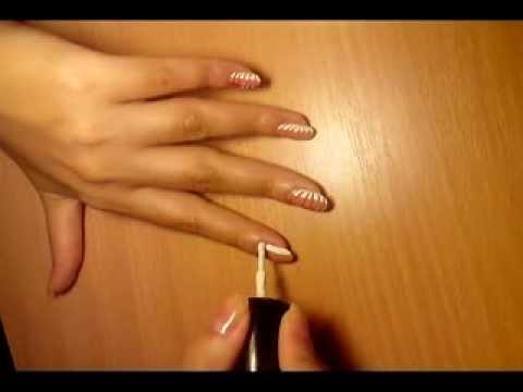 Красивый рисунок на ногтях,