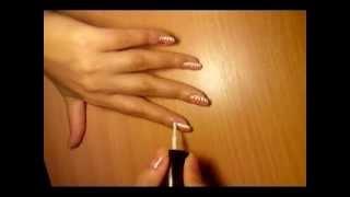 Красивый рисунок на ногтях, легко и просто в домашних условиях. Nail art(В этом видео легко и просто показано, как сделать красивый рисунок на ногтях в домашних условиях., 2013-08-28T22:22:59.000Z)